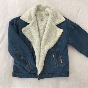 PRINCESS POLLY Denim Sherpa Jacket